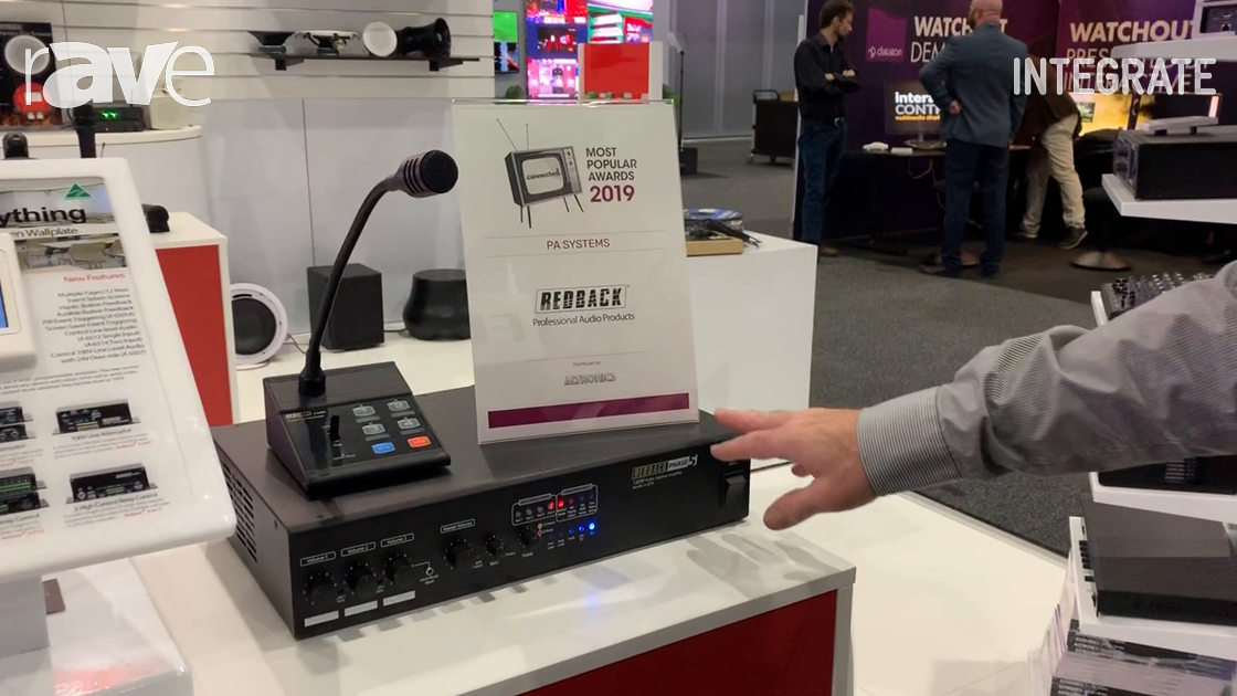 Integrate 2019: Altronic Distributers Shows Redback A 4270 4-Zone Amplifier with Paging Microphone