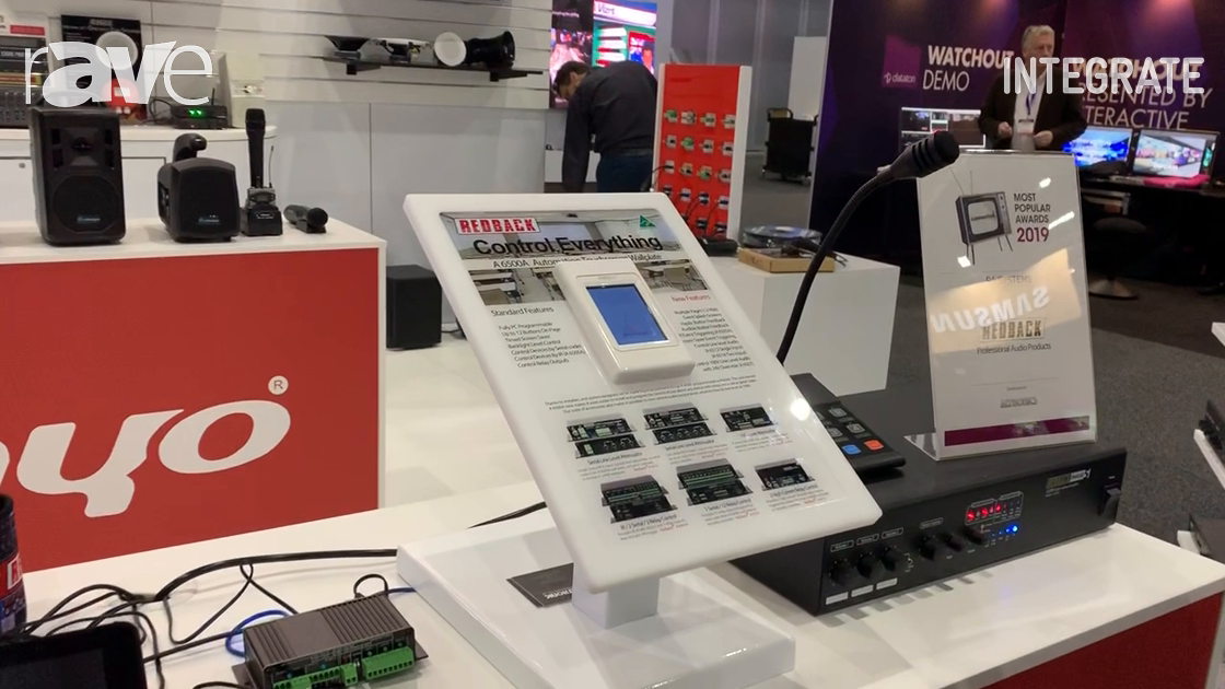 Integrate 2019: Altronic Distributors Overviews Redback A 6500A Automation Touchscreen Wall Plate