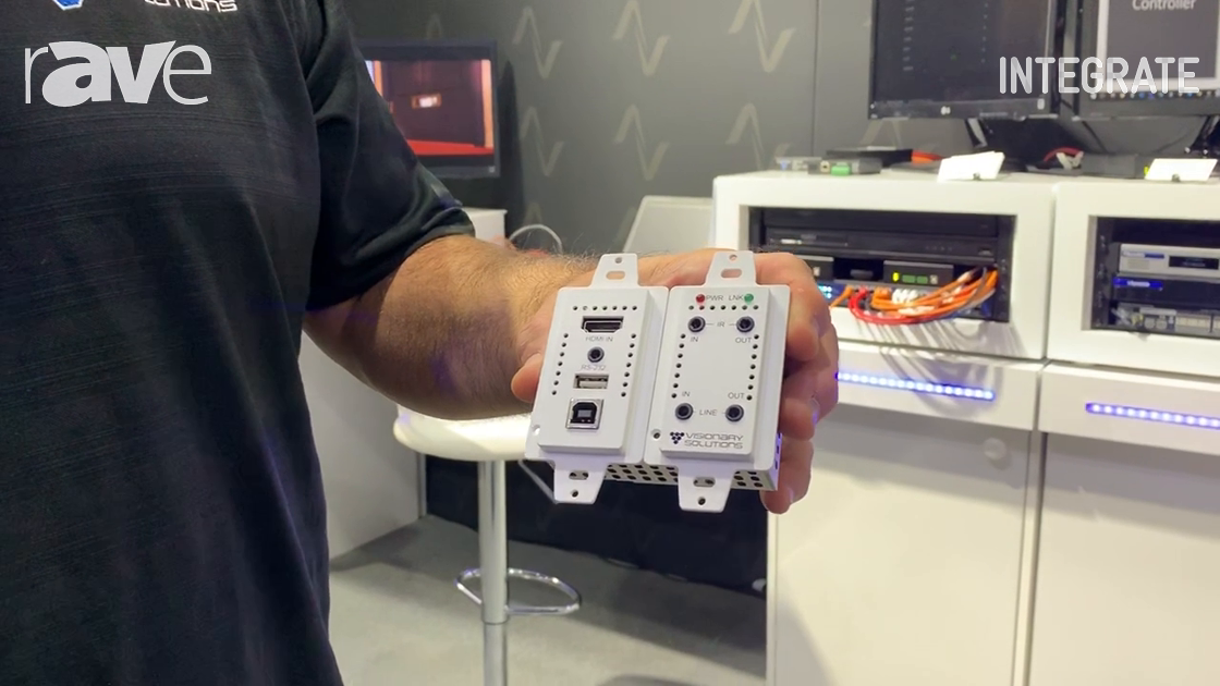 Integrate 2019: Visionary Solutions Shows AV-Over-IP Wall Plate with Dante, Network-Switch Chip