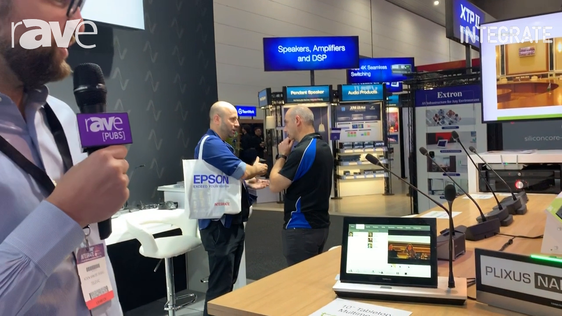 Integrate 2019: Televic Conference Shows Plixus Tabletop 10″ and E-Ink Nameplate for Congress App