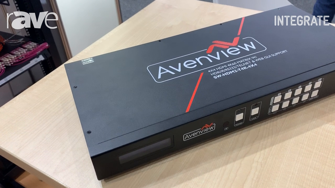 Integrate 2019: Dueltek Distribution Talks About the New Avenview SW-HDM2-T4K-4X4 Matrix Switcher
