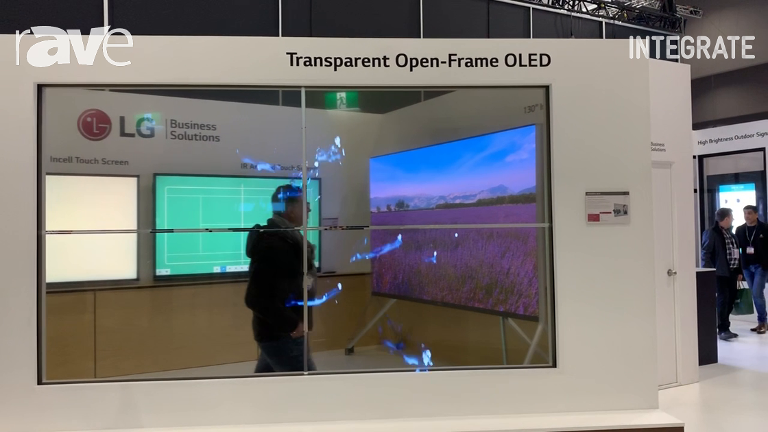 Integrate 2019: LG Presents Transparent Open-Frame OLED in 2×2 Video Wall Configuration