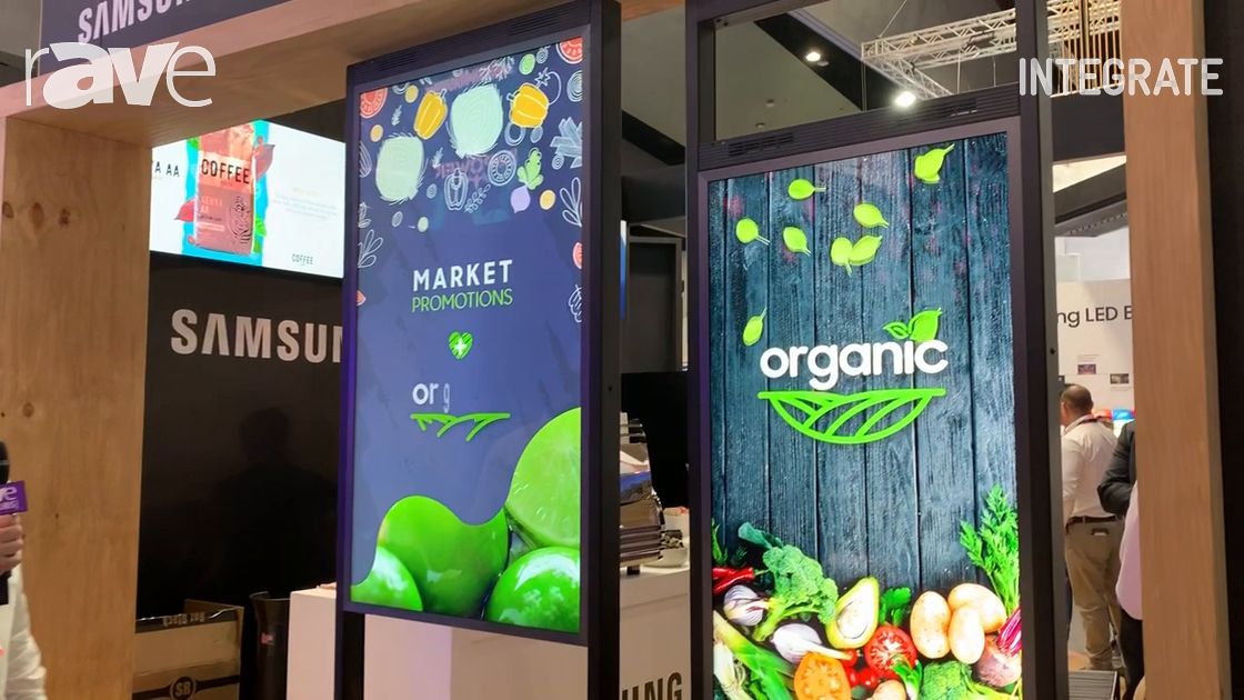 Integrate 2019: Samsung Exhibits OMN-D Series Dual-Screen Display for Retail Window Applications