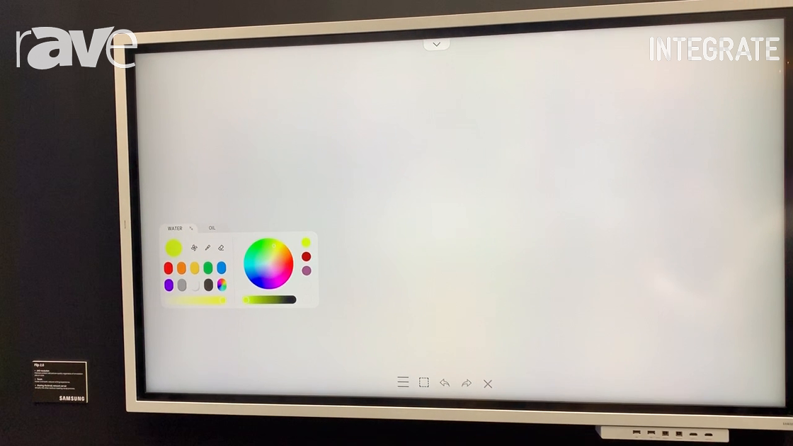Integrate 2019: Samsung Overviews Flip 2.0 65″ Interactive Whiteboard Display