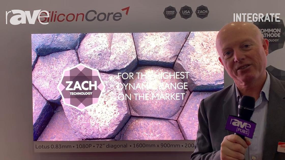 Integrate 2019: SiliconCore Highlights 0.83 Pixel Pitch LED Display Solution
