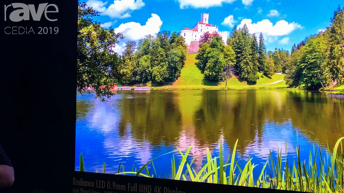 CEDIA 2019: Digital Projection Shows Off Radiance 0.9mm LED UHD 4K Display With Protective Glazing