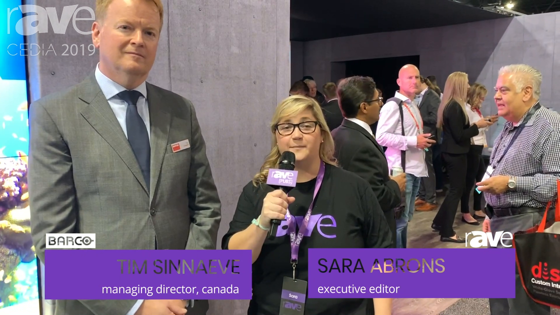 CEDIA 2019: Barco's Tim Sinnaeve Talks to Sara Abrons About Architectural Solutions for HomeAV