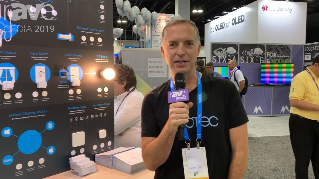 CEDIA 2019: Aeotec Shows Range Extender 7 and Recessed Door Sensor, Both With 700-Series Z-Wave Chip