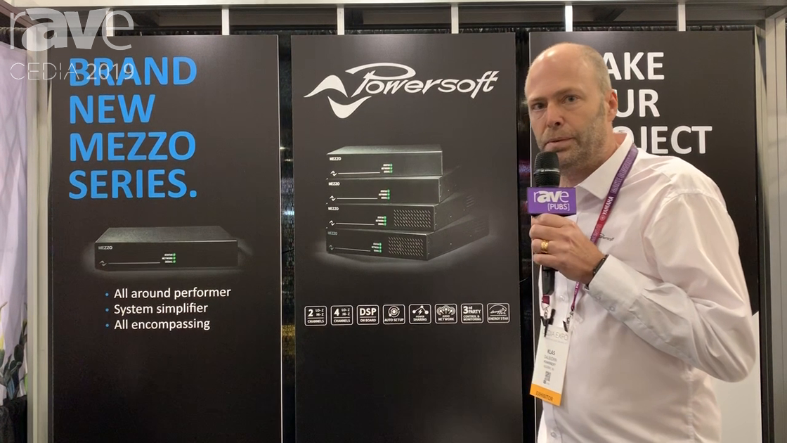CEDIA 2019: Powersoft Intros Its Mezzo Amplifiers 1/2 RU With/Without Dante for HomeAV Market