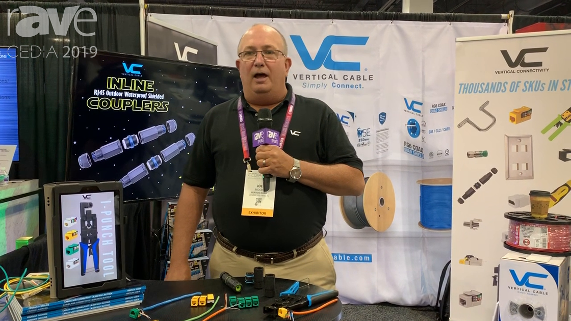 CEDIA 2019: Vertical Cable Shows Off Its Outdoor Waterproof Shielded Inline Couplers