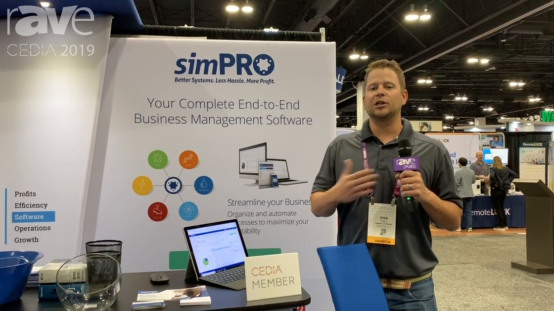 CEDIA 2019: simPRO's Software Platform Offers Real-Time Job Costing, Inventory, CRM, Quoting & More