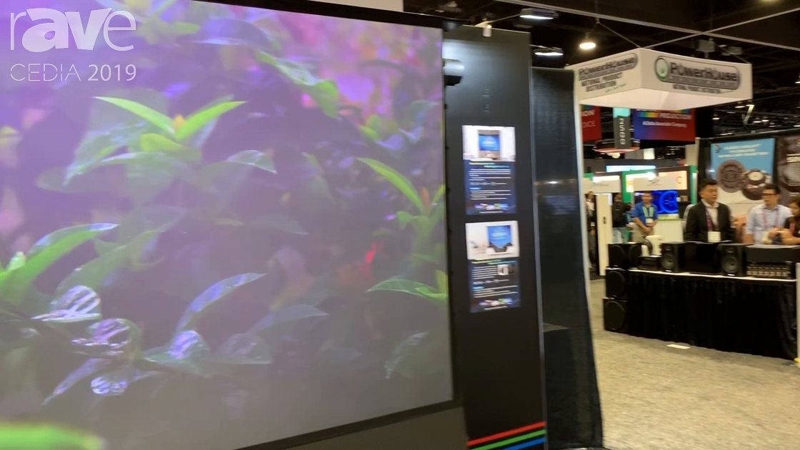 CEDIA 2019: EPV Screens Shows Off the Darkstar Ultra-Short Throw ALR Projection Screen