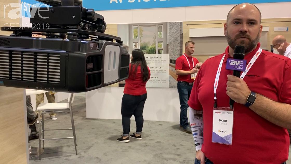 CEDIA 2019: Chief Demos VCTUB-XL Projector Mount