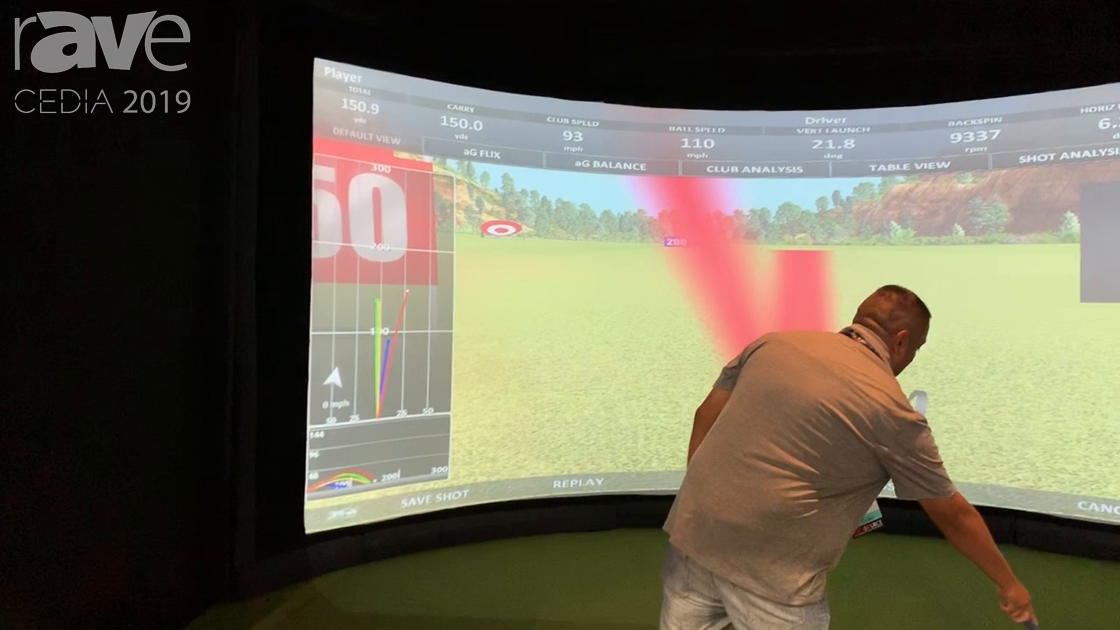 CEDIA 2019: aboutGOLF Demos Simulator With Proprietary Tracking System