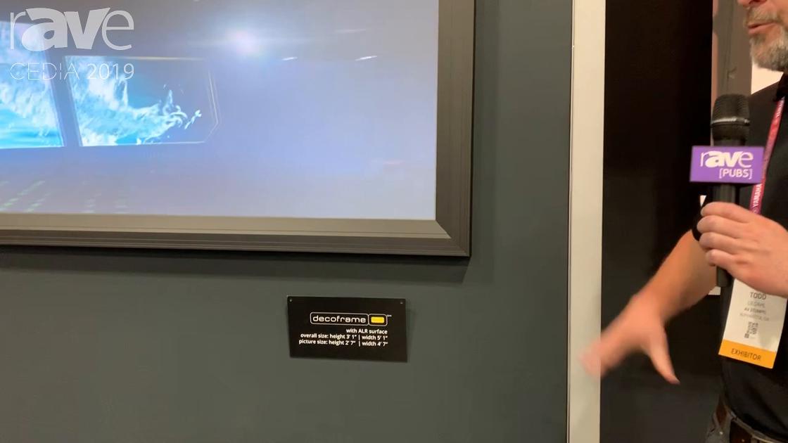CEDIA 2019: AV Stumpfl Shows Off Its Decoframe Fixed Projection Screen