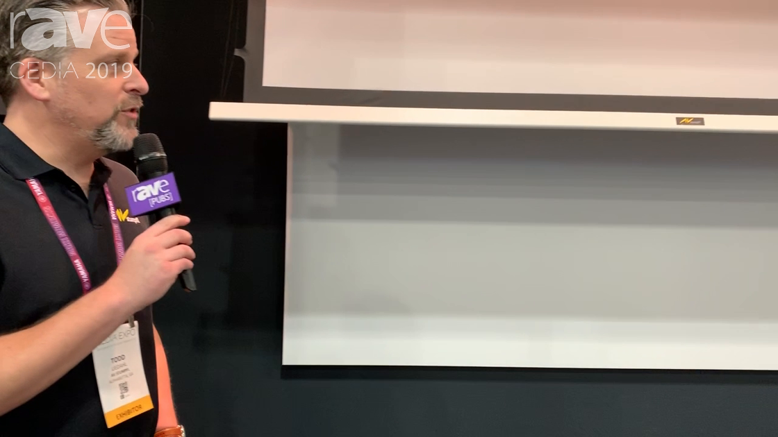 CEDIA 2019: AV Stumpfl Demos Its Inline Tensioned Electric Roll-Down Projection Screen