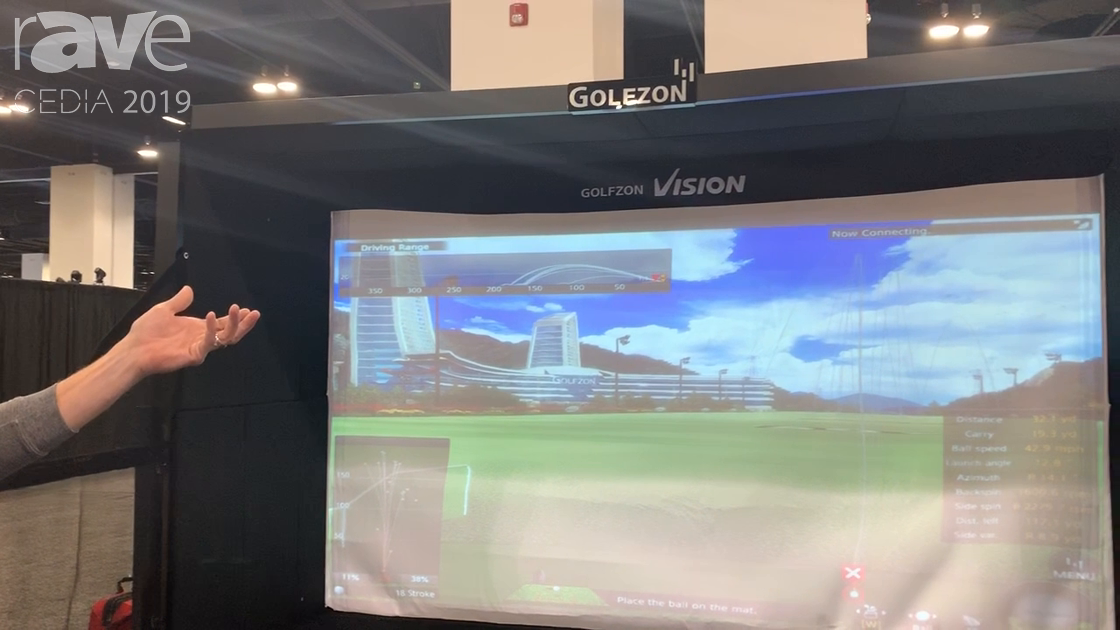 CEDIA 2019: Golfzon Shows the Golfzon Vision Golf Simulator System, Works With Any Ball and Club