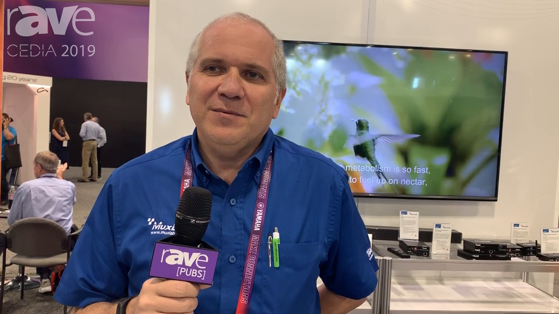 CEDIA 2019: MuxLab Presents DomoStream AV-Over-IP Transmitter/Receiver for Residential Applications
