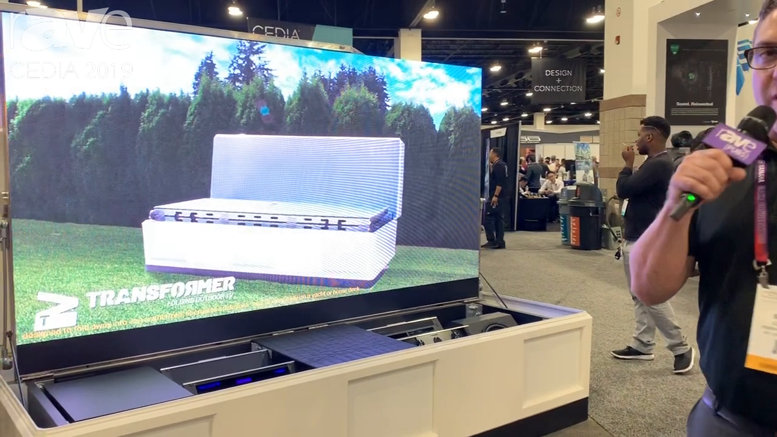 CEDIA 2019: Stealth Acoustics Unveils Transformer Folding, Retractable LED Display Theater System