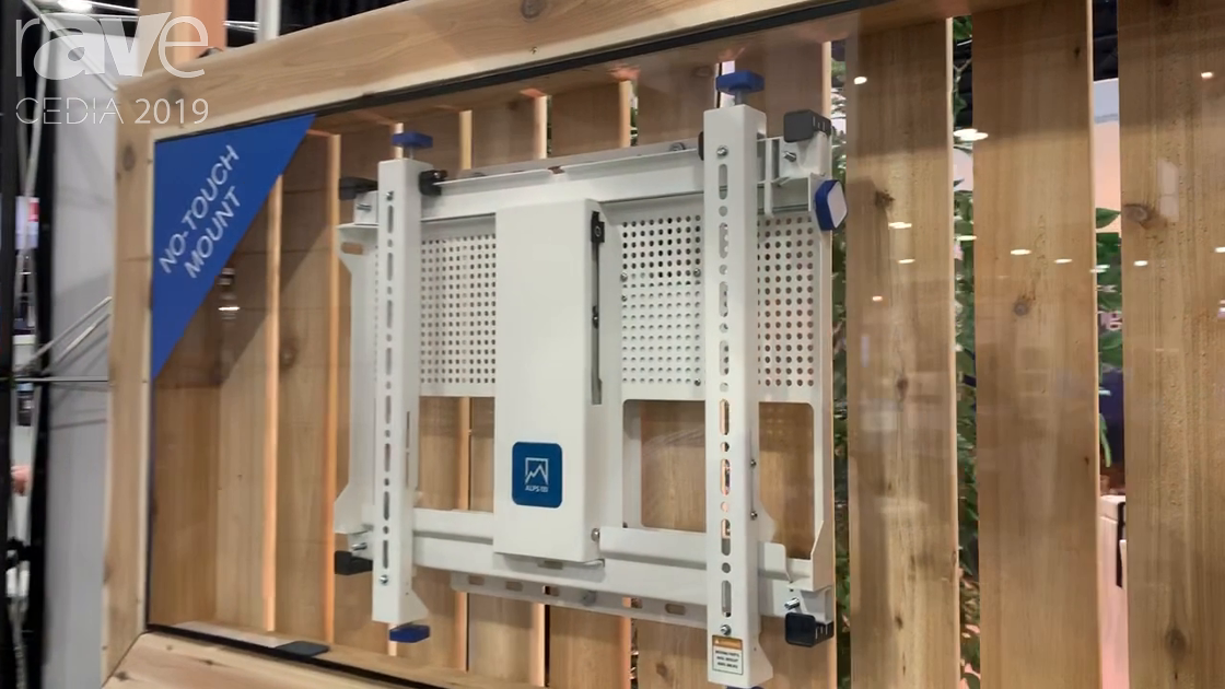 CEDIA 2019: ALPS AV Demos How Its No Touch TV Mount Works