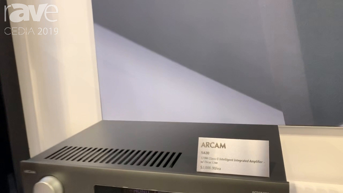 CEDIA 2019: ARCAM Presents SA30 120W Class G Intelligent Integrated Amplifier