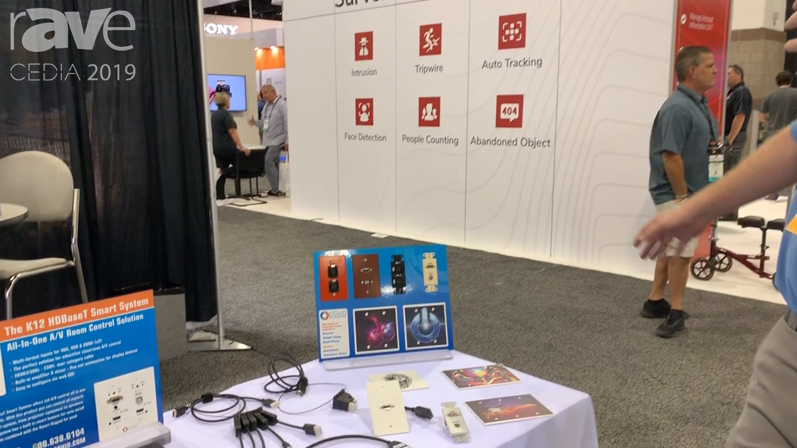 CEDIA 2019: COVID Shows Off Custom Wall Plates and AOC HDMI Cables
