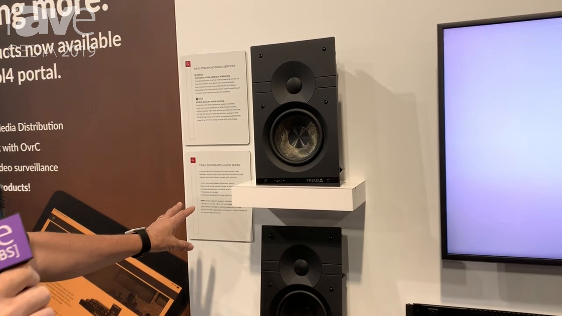 CEDIA 2019: Control4 Features New TRIAD Distributed Audio Series Speakers