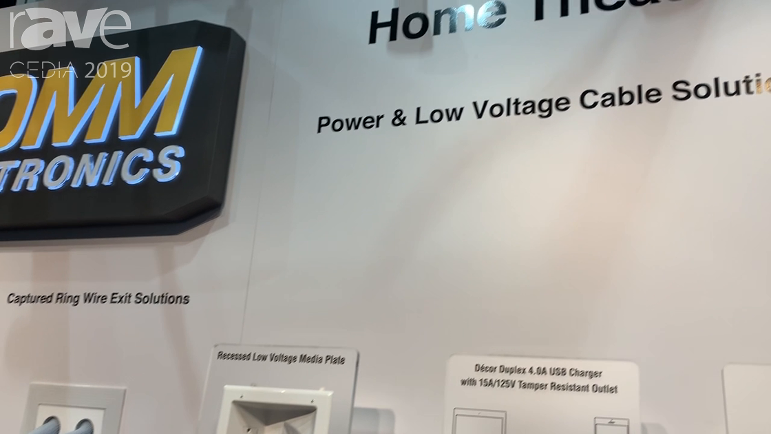 CEDIA 2019: DataComm Electronics Talks About 15″ Brush Cover Box, Captured Ring Wire Exit Solution