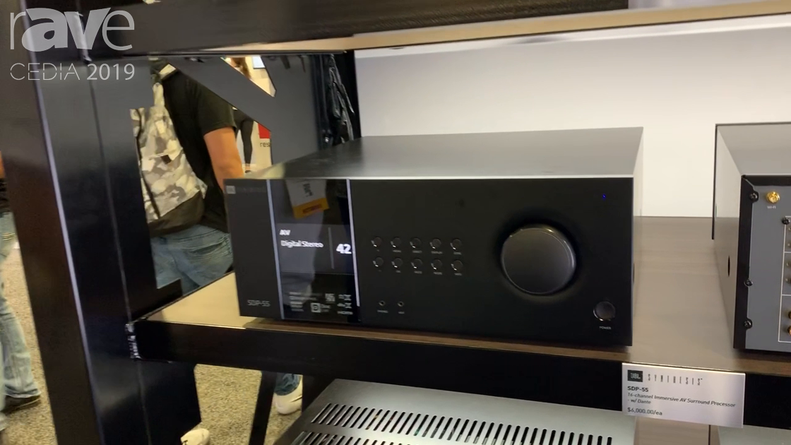 CEDIA 2019: JBL Synthesis Intros SDP-55 Surround Sound Processor, SDR-35 16-Channel AVR