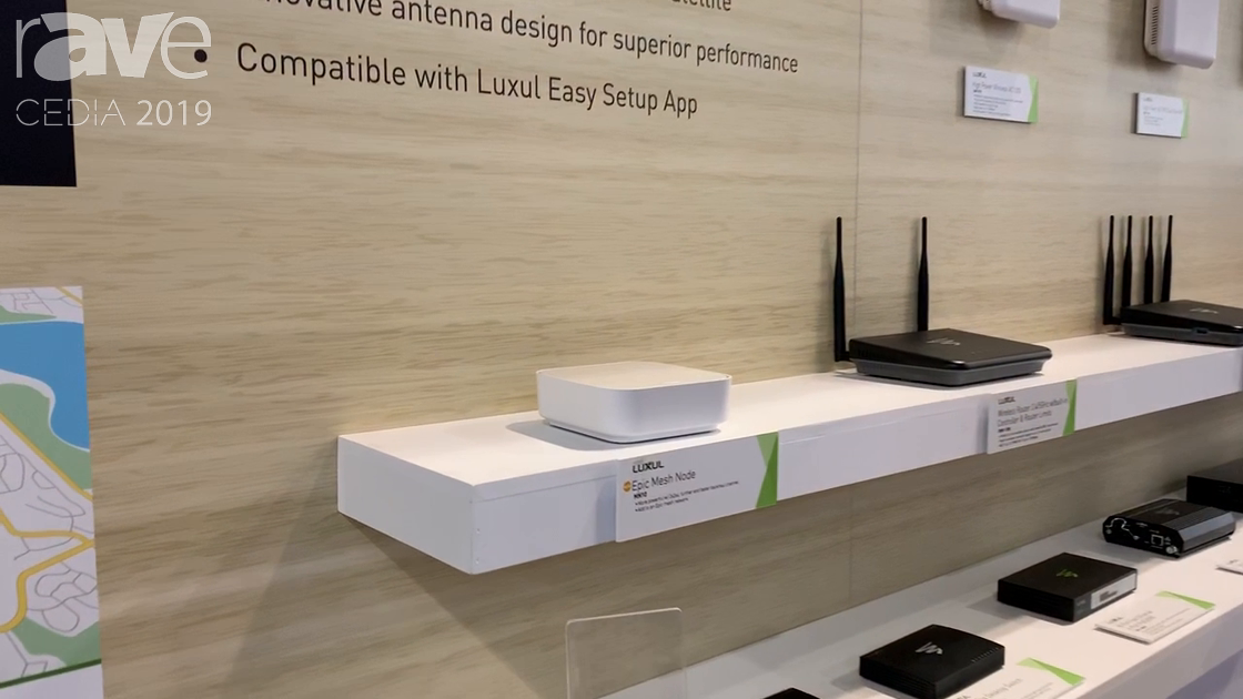 CEDIA 2019: Luxul Debuts Epic Mesh Node for Mesh Wireless Network System