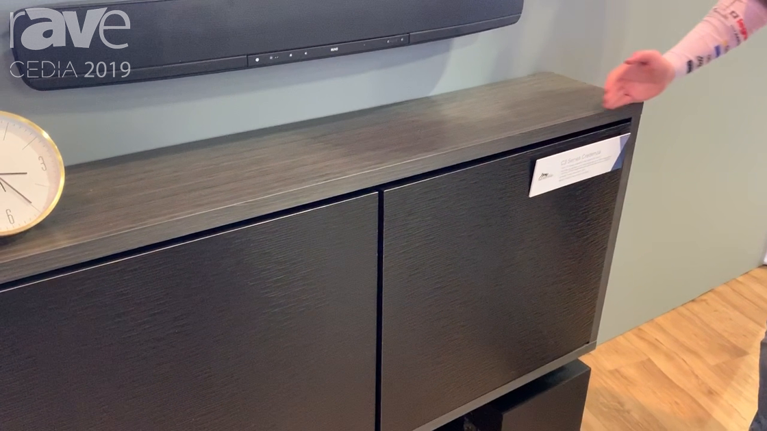 CEDIA 2019: Middle Atlantic Presents the C3 Series Credenza with Four Vertical Rack Slots