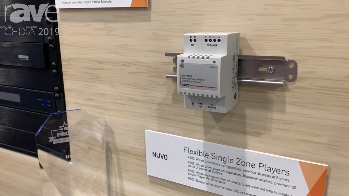 CEDIA 2019: Nuvo Overviews NV-P600 DIN-Rail Single Zone Player