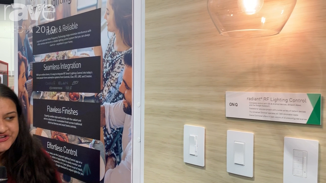 CEDIA 2019: On-Q Talks About RF Lighting Control Products