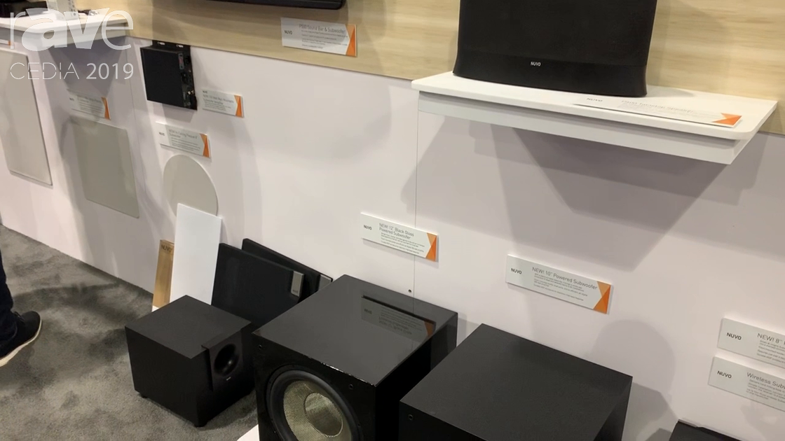 CEDIA 2019: Nuvo Highlights Line of Powered Subwoofers and Wireless Subwoofer Kit