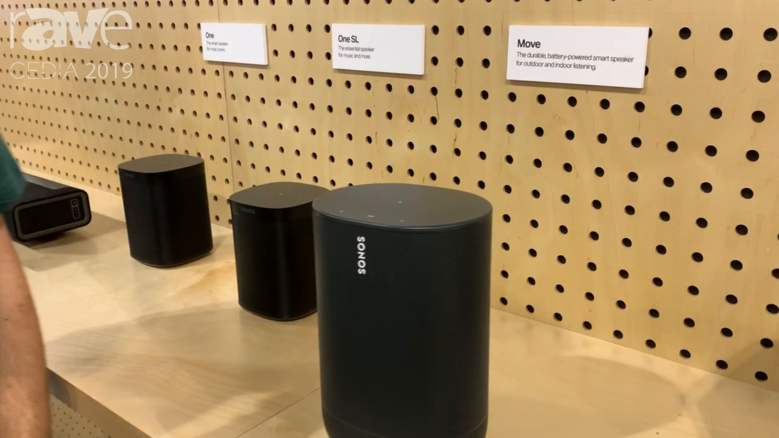 CEDIA 2019: Sonos Debuts IPX56-Rated Move Outdoor/Indoor Portable Speaker