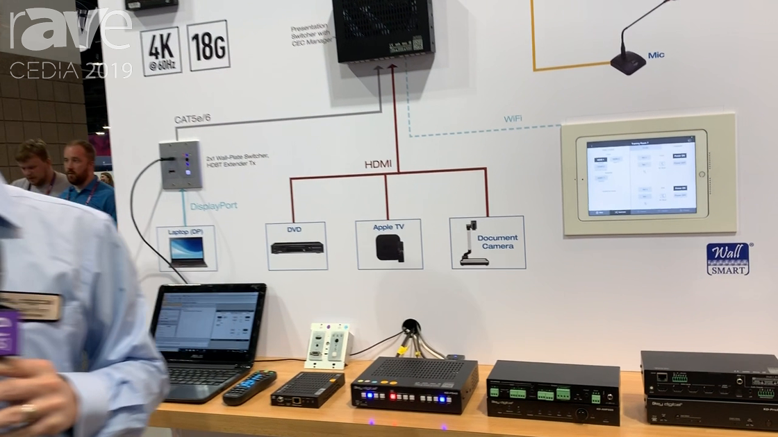 CEDIA 2019: Key Digital Showcases Its KD-PS42 Presentation Switcher