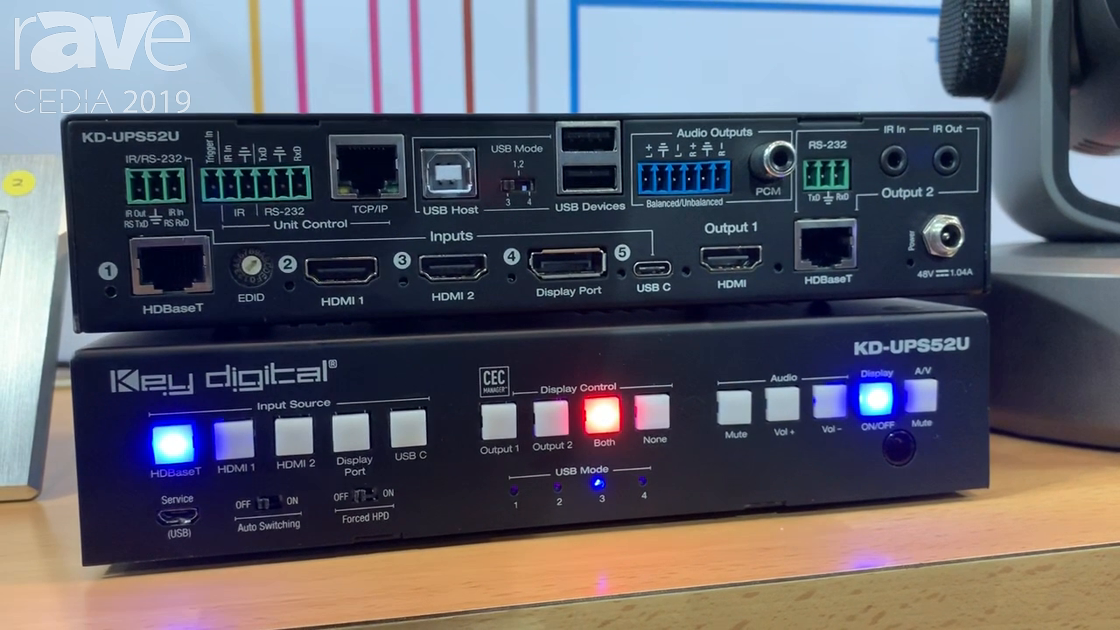 CEDIA 2019: Key Digital Shows KD-UPS52U 4K/18G USB/Universal Presentation Switcher with Five Inputs