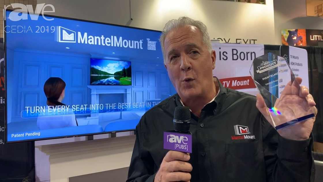 CEDIA 2019: MantelMount Features Its MM640 Motorized Robotic Mounting Solution