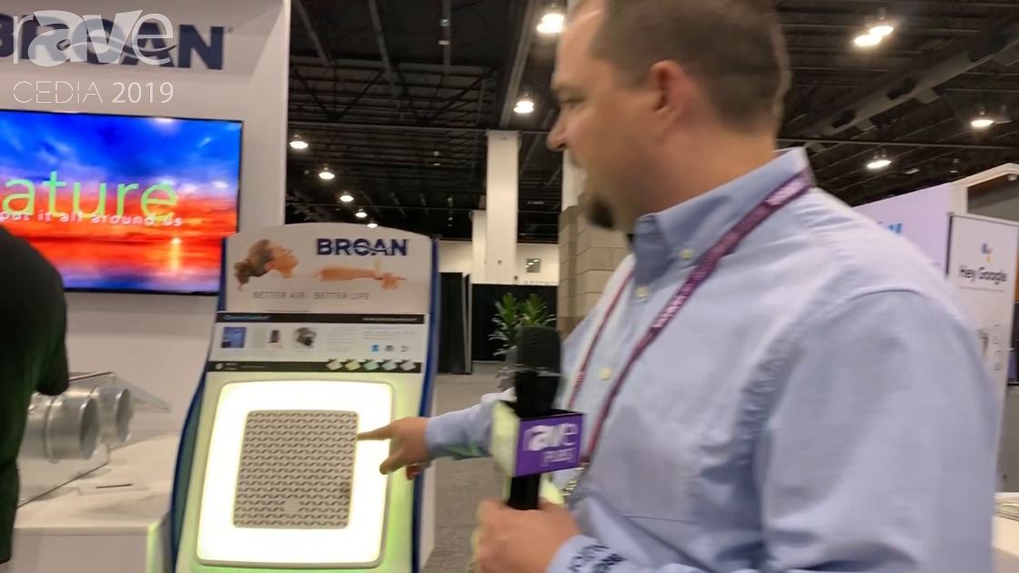 CEDIA 2019: Broan Features ChromaComfort Bath Fan With LED Light Ring