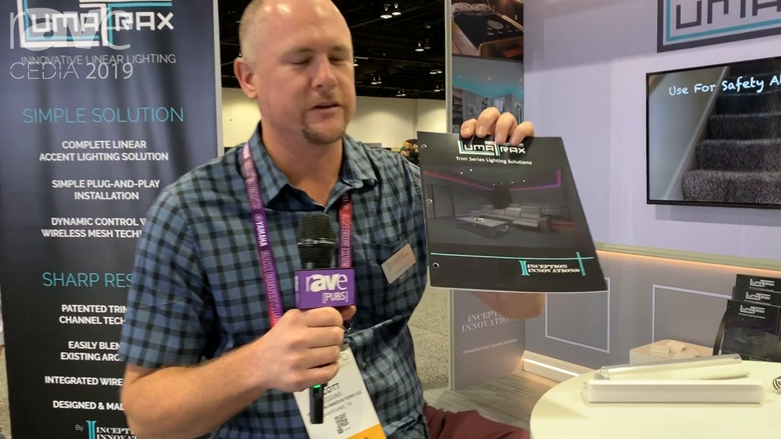 CEDIA 2019: Inception Innovations Shows Off Its LumaTrax Lighting System, Eliminating Drywall Work