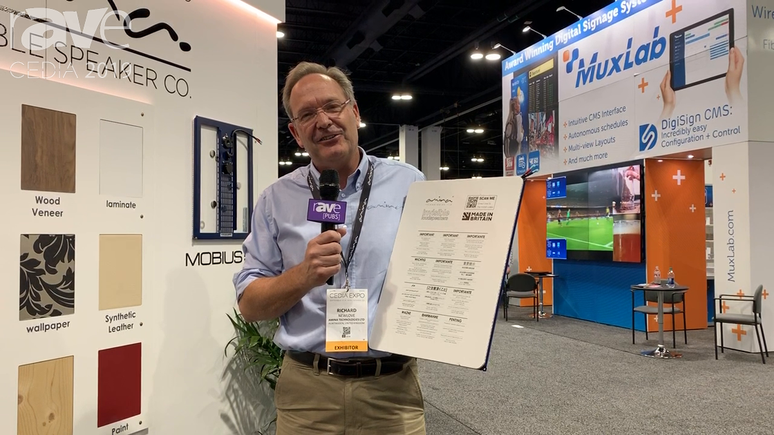 CEDIA 2019: Amina Technologies Talks About How Its Speaker Technology Is Like a Musical Instrument