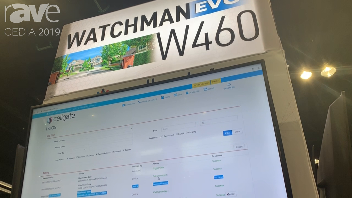 CEDIA 2019: CellGate Showcases the WATCHMAN W460 Multi-Contact, Multi-Family Telephone Entry System