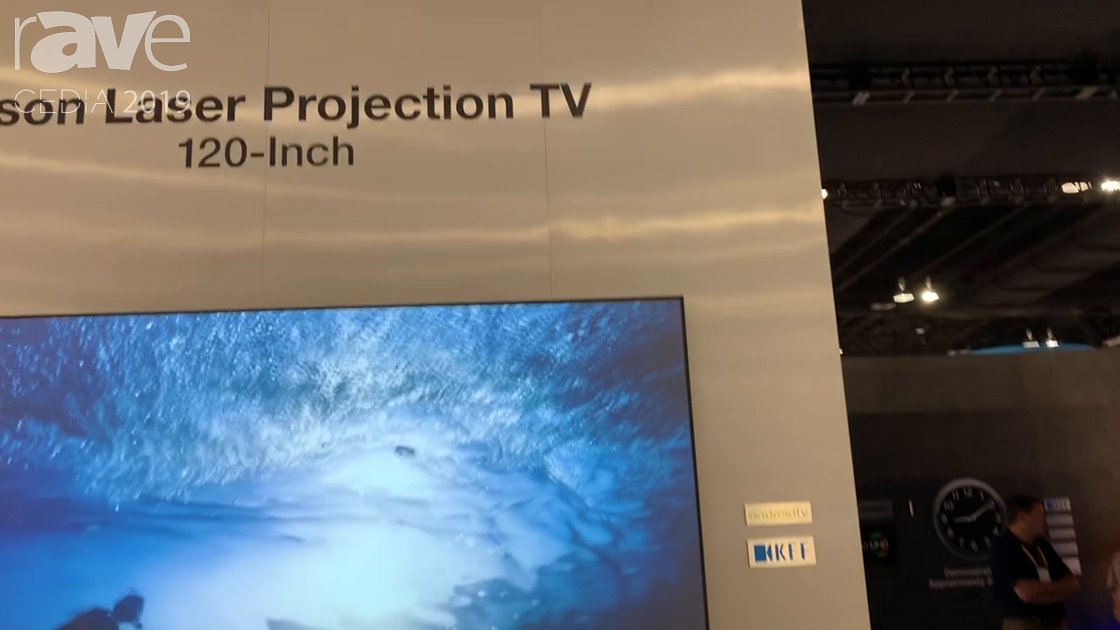 CEDIA 2019: Epson Shows Off 120-Inch Epson Smart TV-1 Laser TV Featuring the LS500 Laser Projector