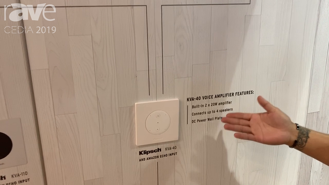 CEDIA 2019: Klipsch Presents Its KVA-40 and KVA-110 In-Wall Voice Amplifiers