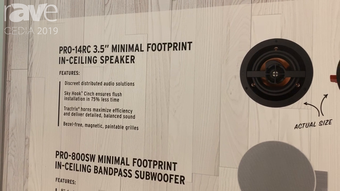 CEDIA 2019: Klipsch Debuts PRO-14RC 3.5″ In-Ceiling Speakers with PRO-800SW Subwoofer
