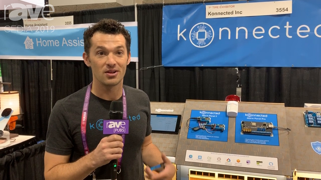 CEDIA 2019: Konnected Shows Alarm Panel 2, Alarm Panel Pro for Traditional Alarm System Integration