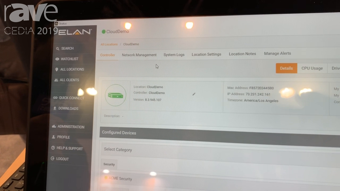 CEDIA 2019: ELAN Shows ELAN Management Cloud for Remote Monitoring of ELAN Systems