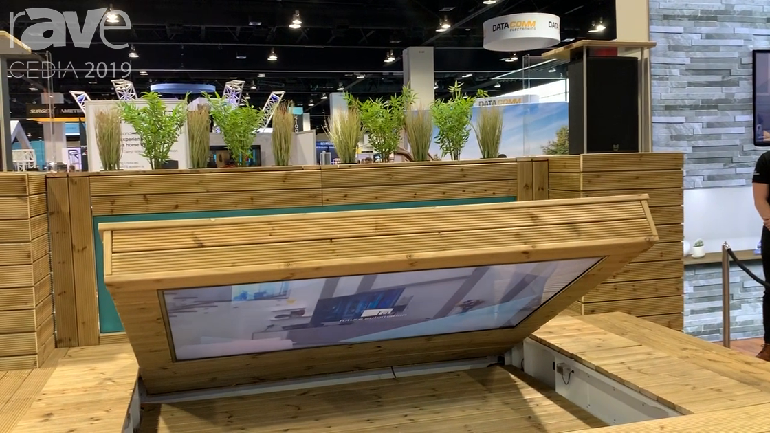 CEDIA 2019: Future Automation Highlights Outdoor Deck TV Enclosure Using Servo Motor Technology
