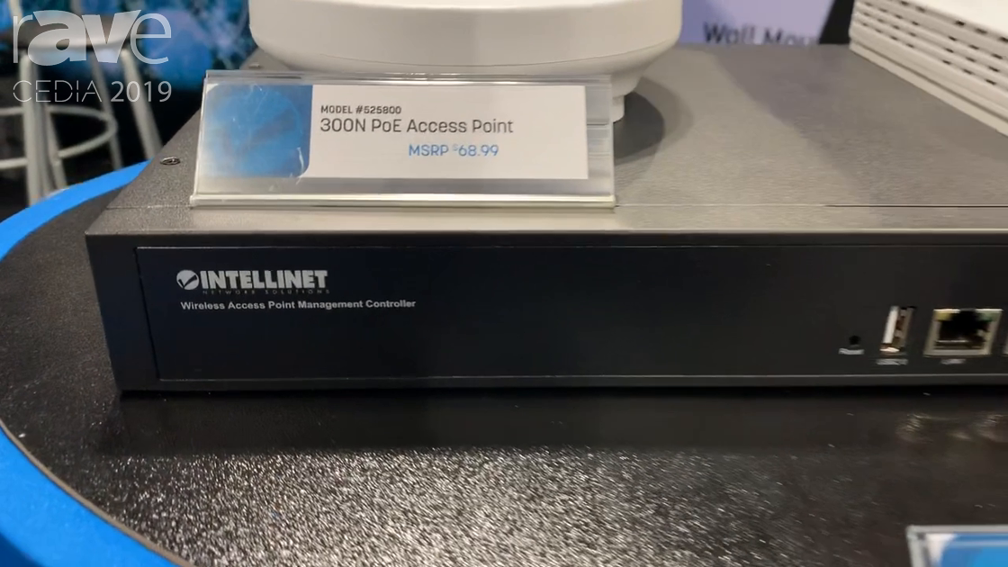 CEDIA 2019: Intellinet Network Solutions Explains 300N PoE Access Point