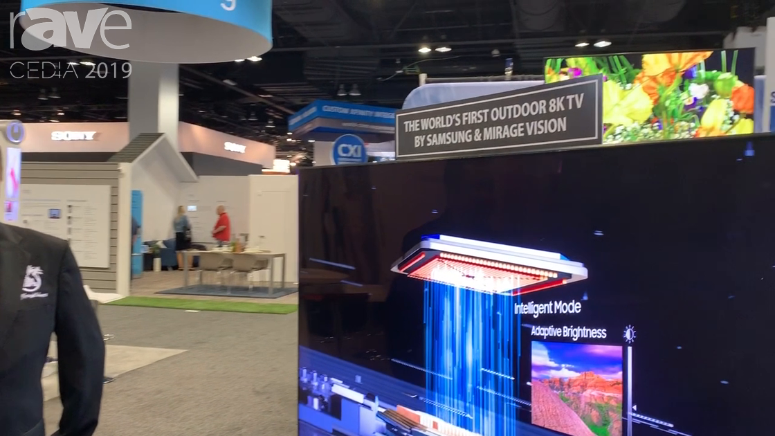CEDIA 2019: Mirage Vision Outdoor TV Presents Outdoor 8K Samsung TV